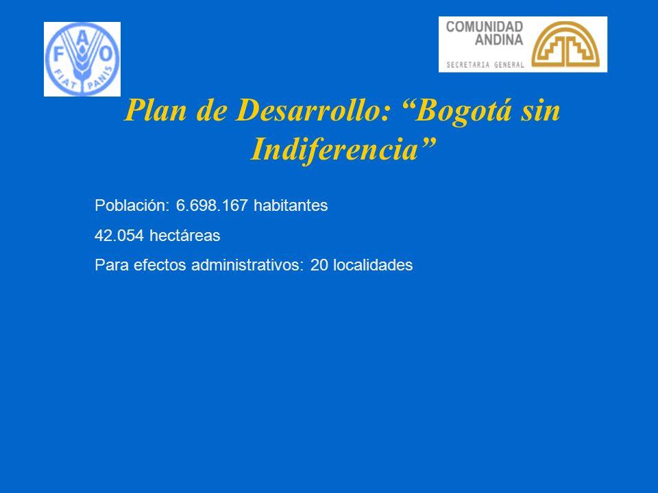 Plan de Desarrollo: Bogotá sin Indiferencia