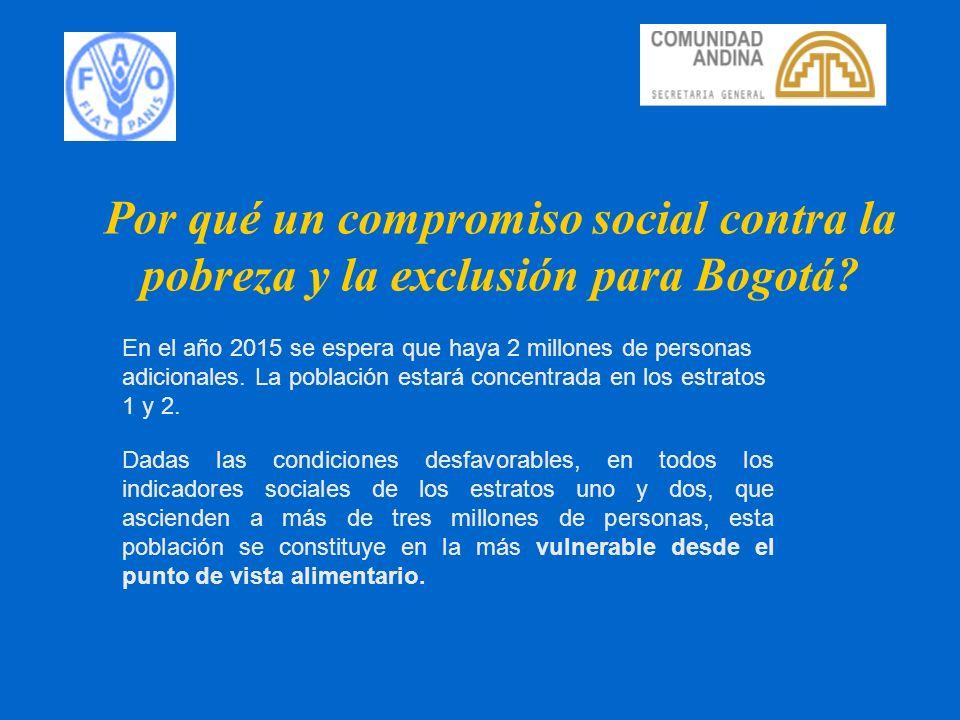 Por qué un compromiso social contra la pobreza y la exclusión para Bogotá
