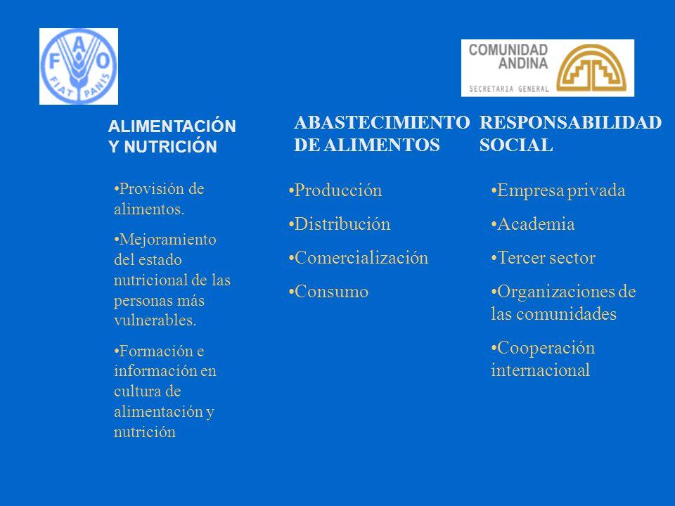 ABASTECIMIENTO DE ALIMENTOS RESPONSABILIDAD SOCIAL