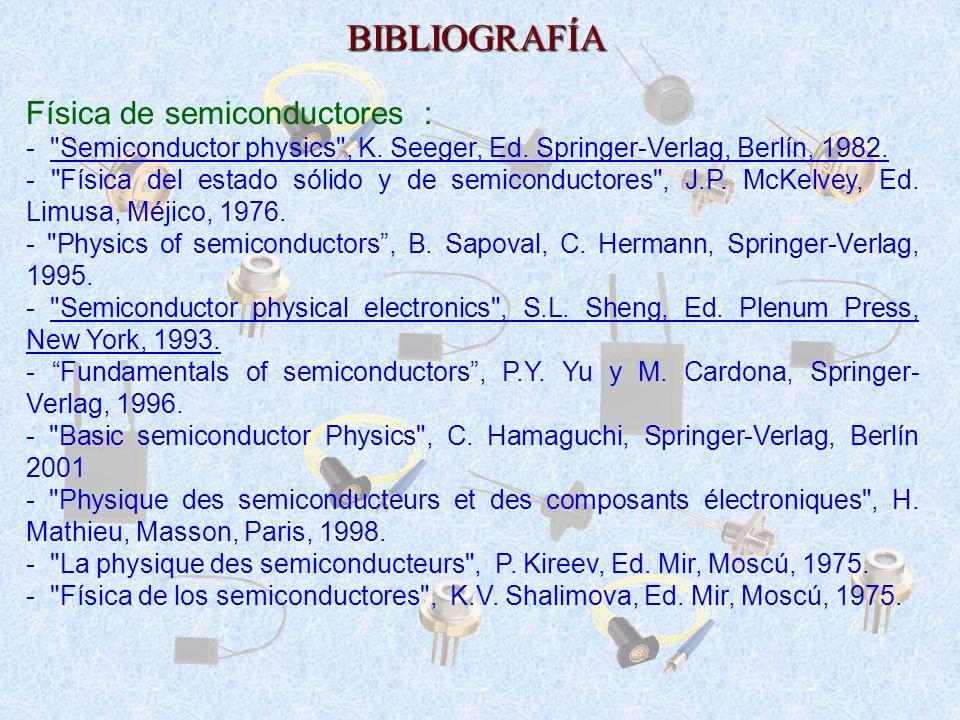 BIBLIOGRAFÍA Física de semiconductores :