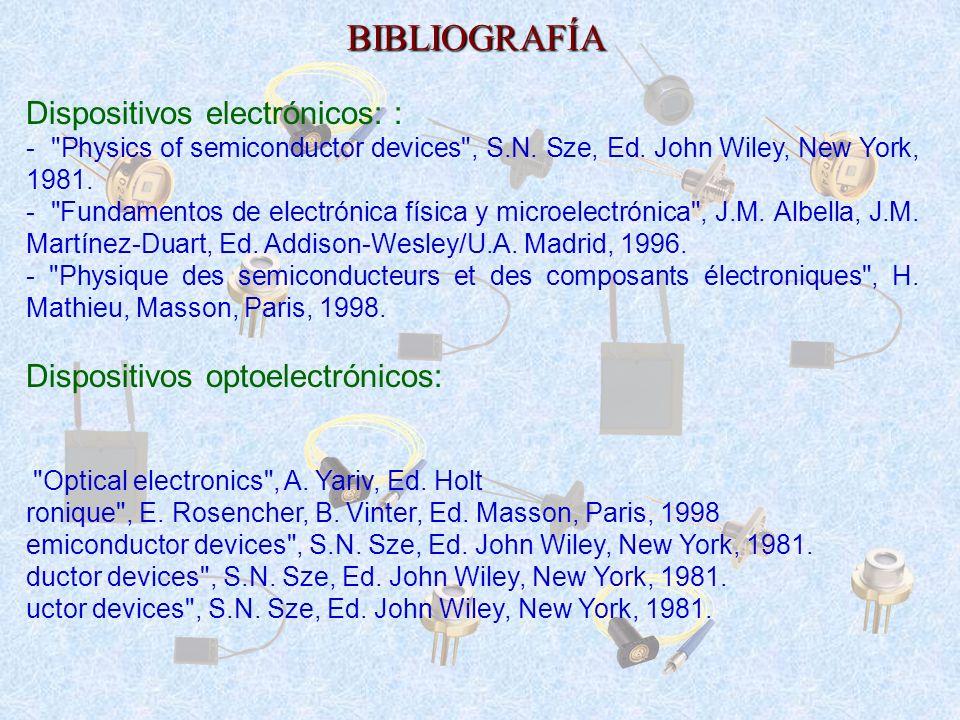 BIBLIOGRAFÍA Dispositivos electrónicos: :