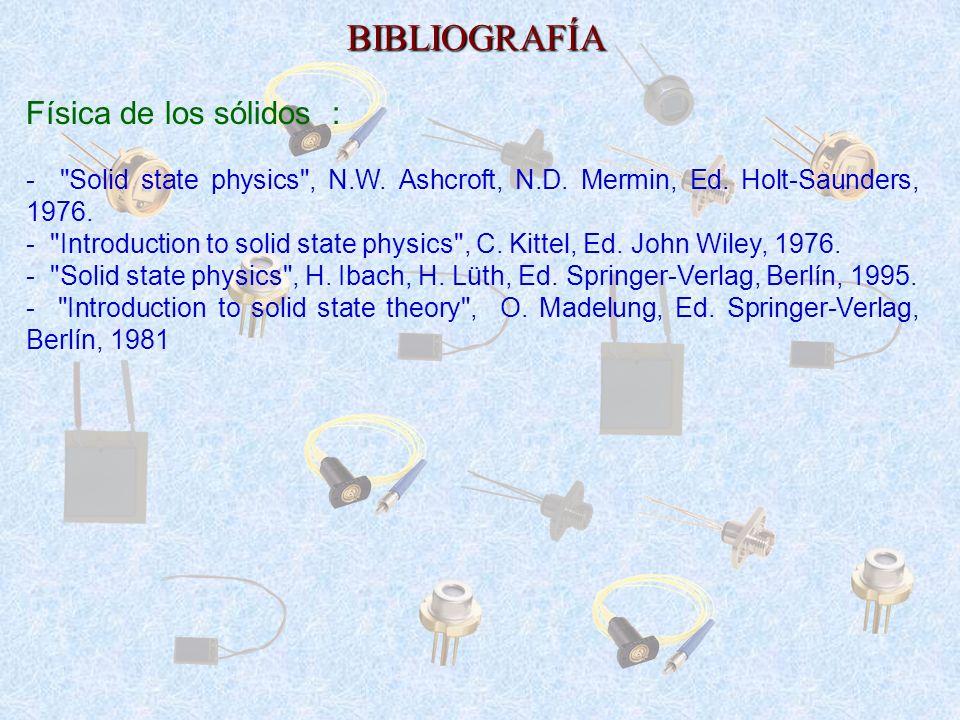 BIBLIOGRAFÍA Física de los sólidos :