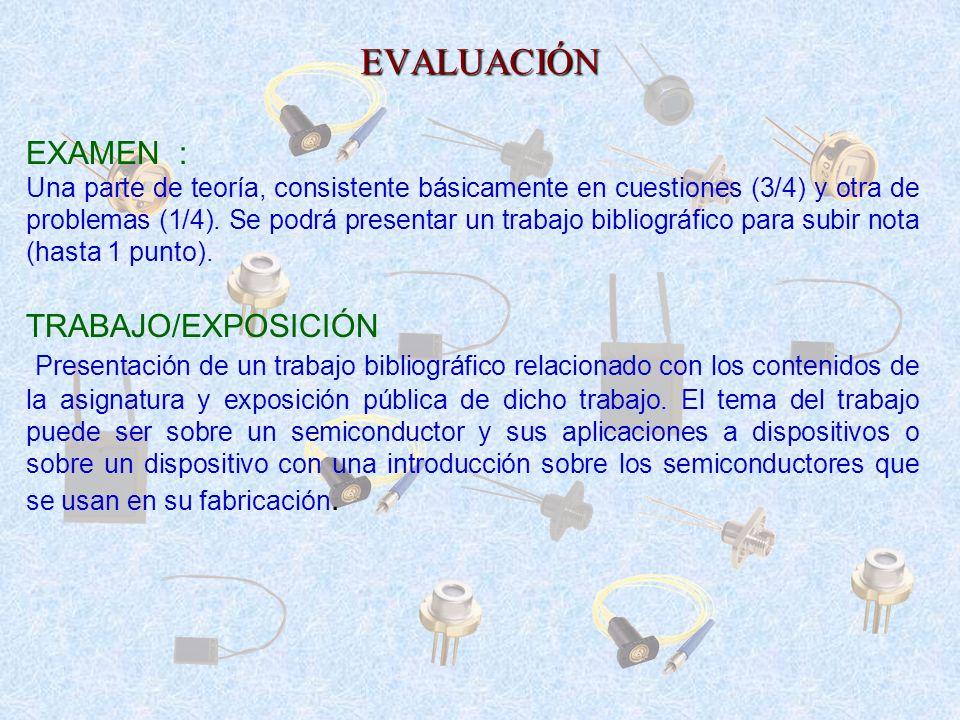 EVALUACIÓN EXAMEN : TRABAJO/EXPOSICIÓN