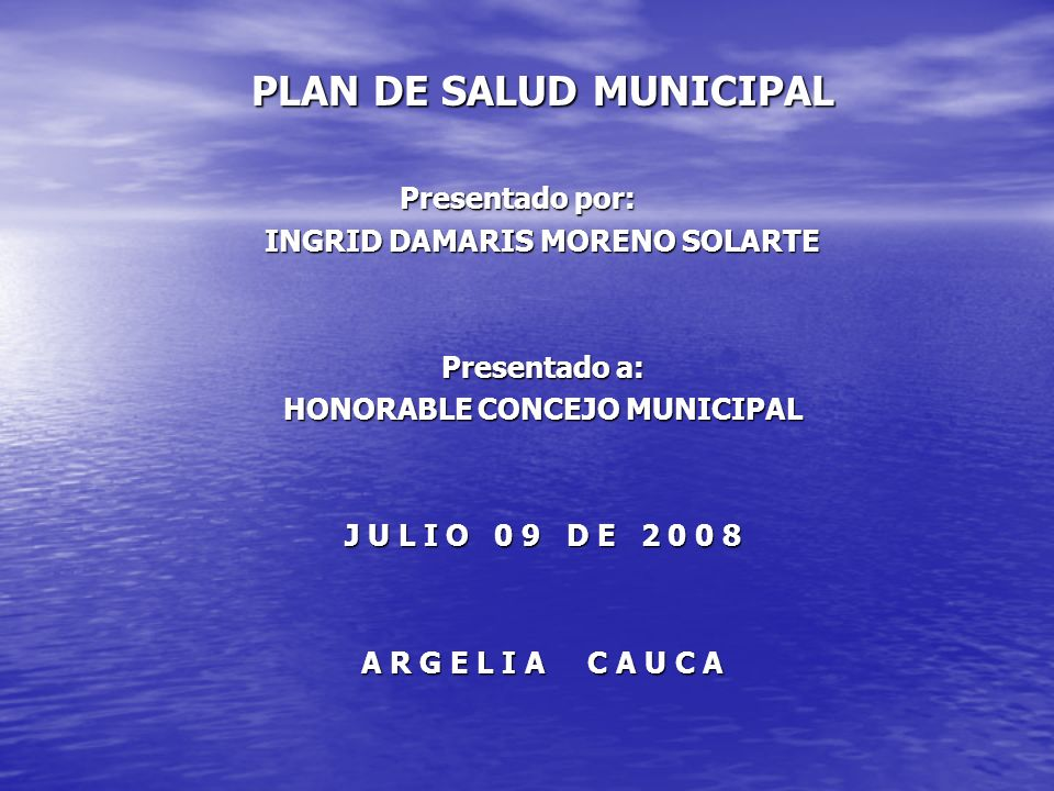 PLAN DE SALUD MUNICIPAL