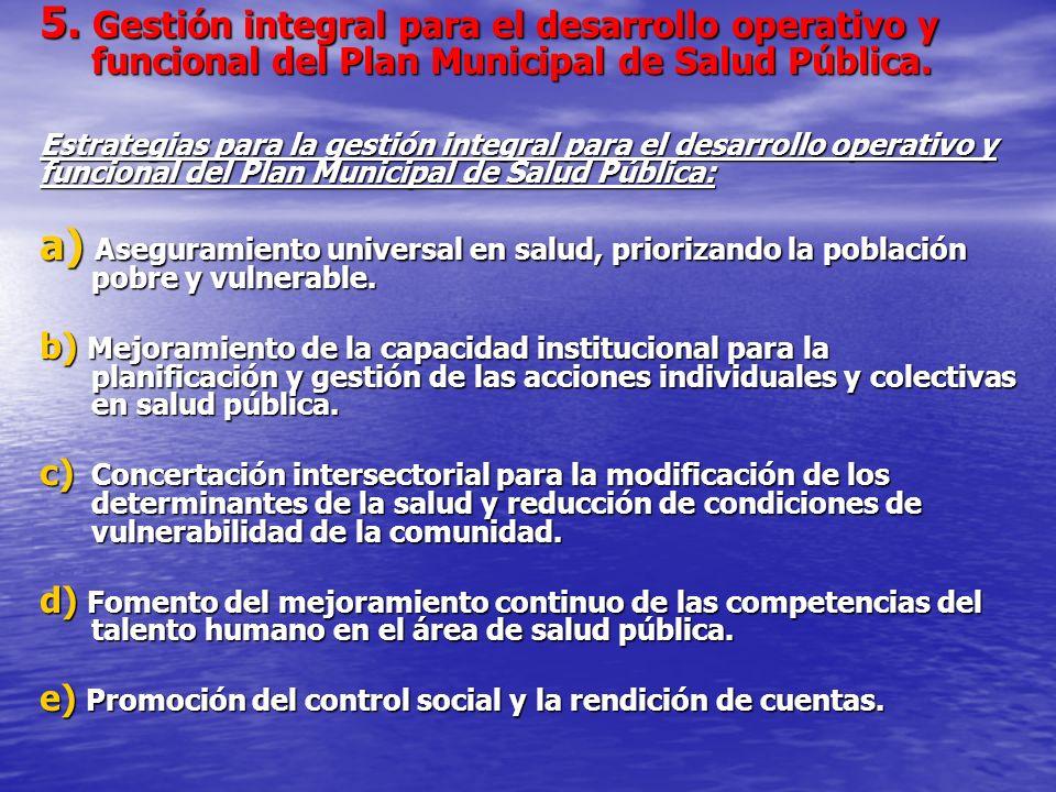 5. Gestión integral para el desarrollo operativo y