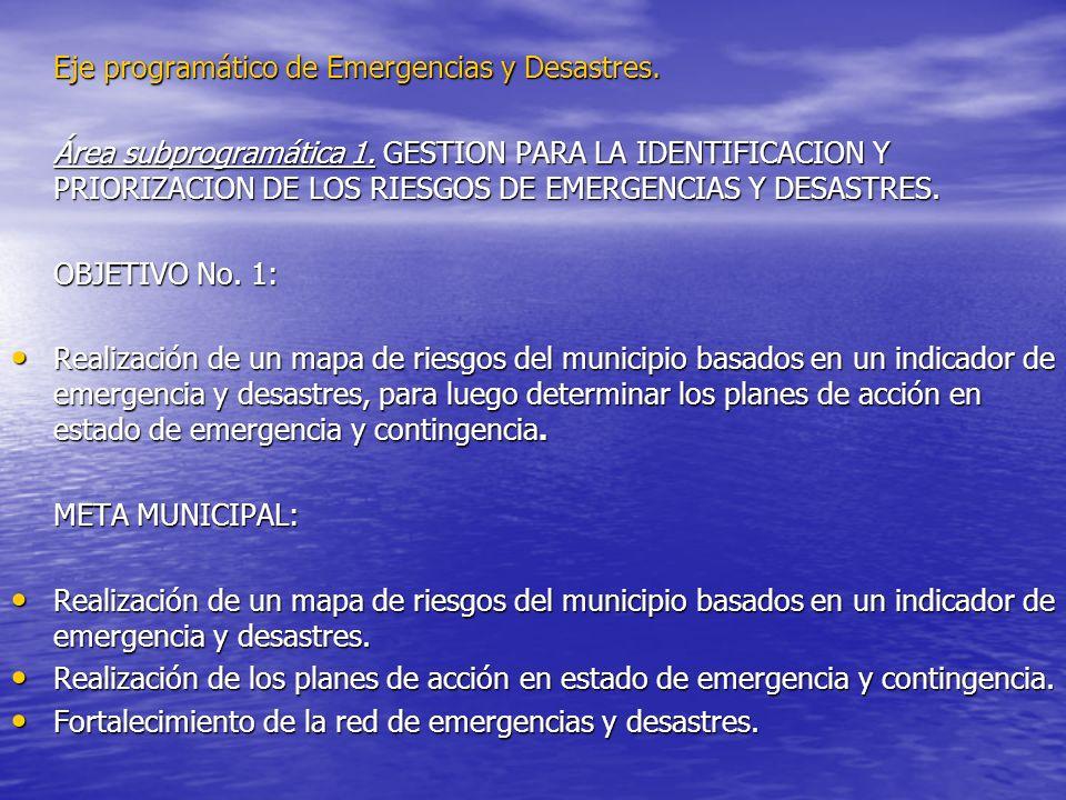 Eje programático de Emergencias y Desastres.