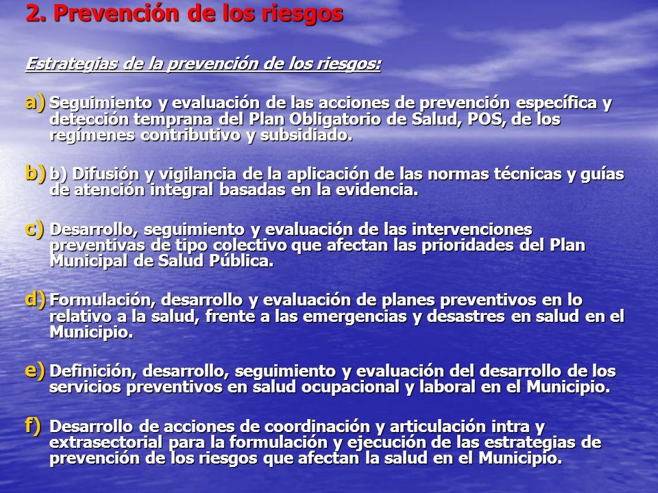 2. Prevención de los riesgos