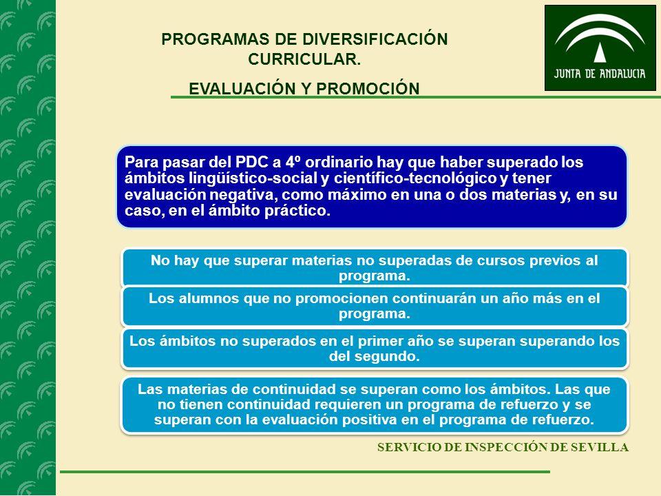 PROGRAMAS DE DIVERSIFICACIÓN CURRICULAR. EVALUACIÓN Y PROMOCIÓN