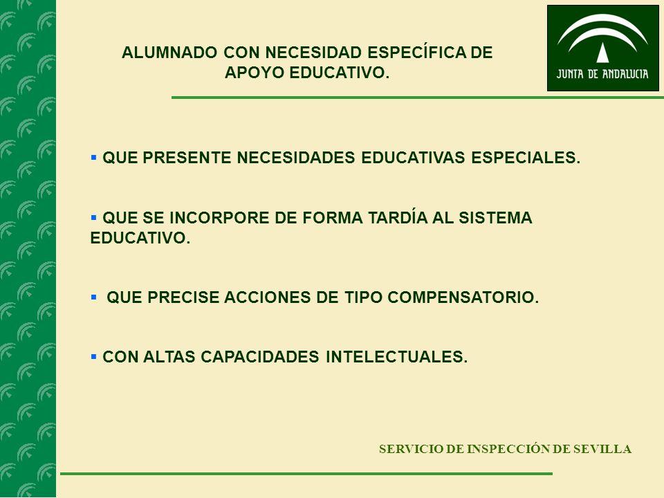 ALUMNADO CON NECESIDAD ESPECÍFICA DE APOYO EDUCATIVO.