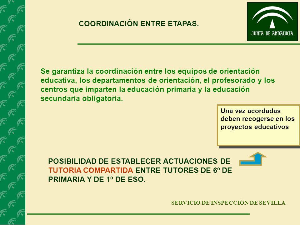 COORDINACIÓN ENTRE ETAPAS.