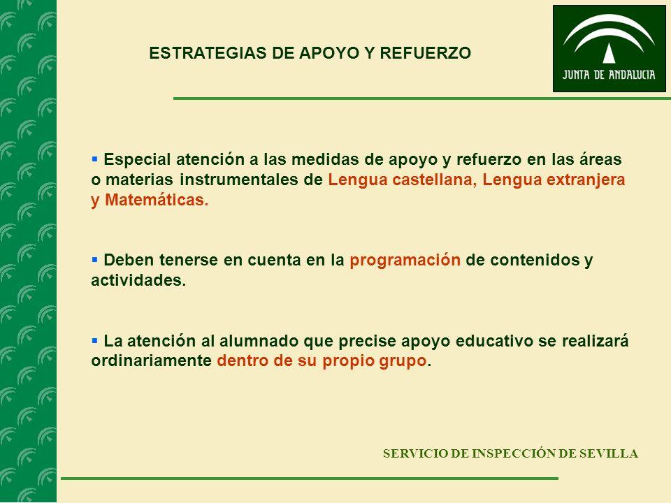 ESTRATEGIAS DE APOYO Y REFUERZO