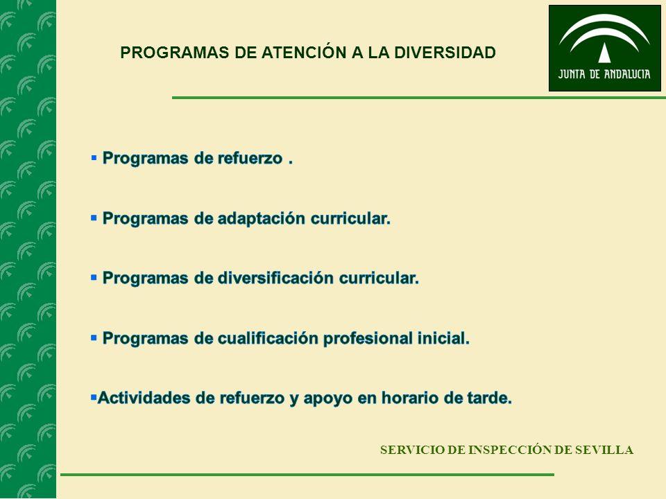 PROGRAMAS DE ATENCIÓN A LA DIVERSIDAD