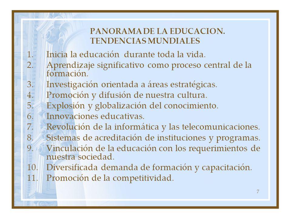 PANORAMA DE LA EDUCACION. TENDENCIAS MUNDIALES