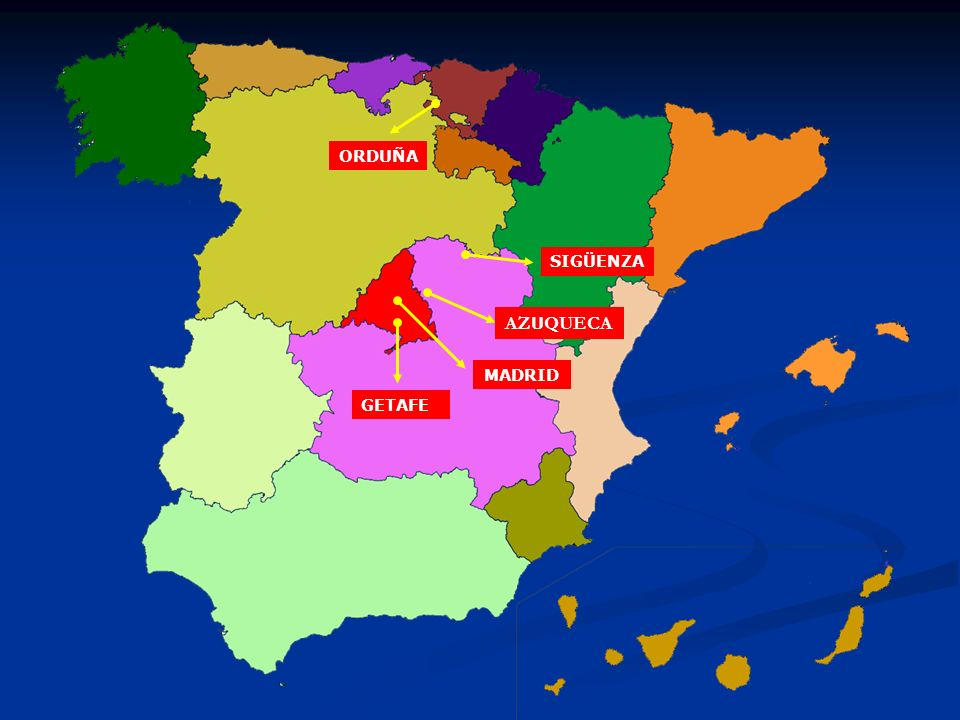 ORDUÑA SIGÜENZA AZUQUECA MADRID GETAFE