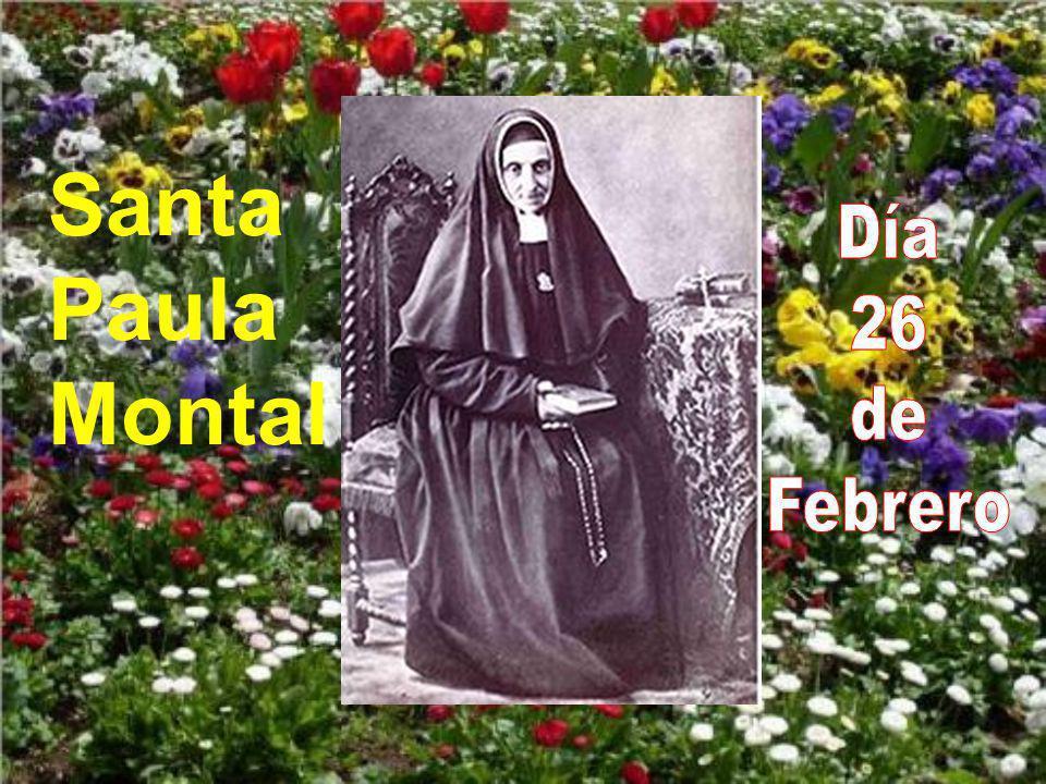 Santa Paula Montal Día 26 de Febrero
