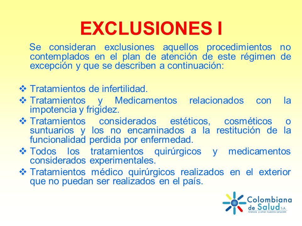 EXCLUSIONES I