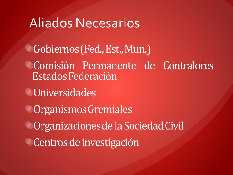 Aliados Necesarios Gobiernos (Fed., Est., Mun.)