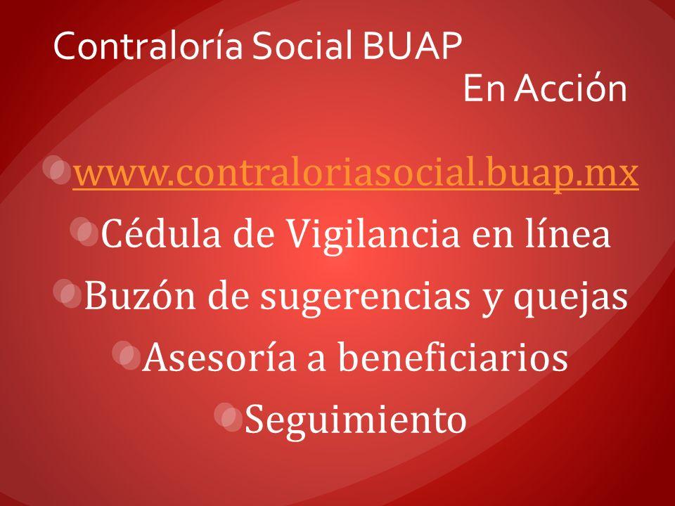 Contraloría Social BUAP En Acción