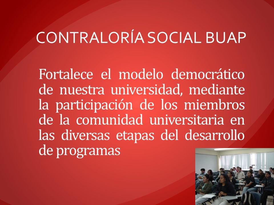 CONTRALORÍA SOCIAL BUAP