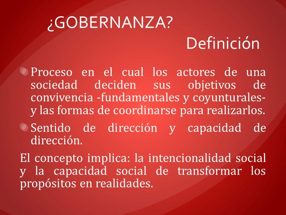 ¿GOBERNANZA Definición