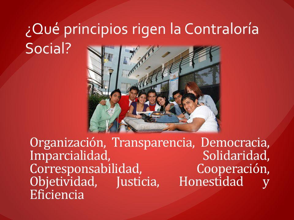 ¿Qué principios rigen la Contraloría Social