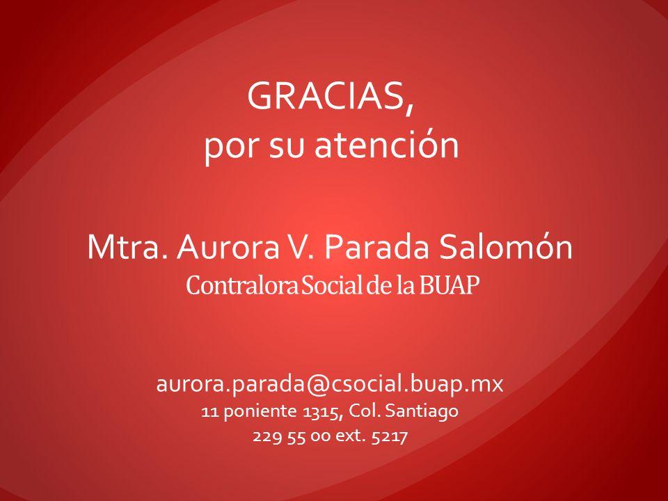 Mtra. Aurora V. Parada Salomón