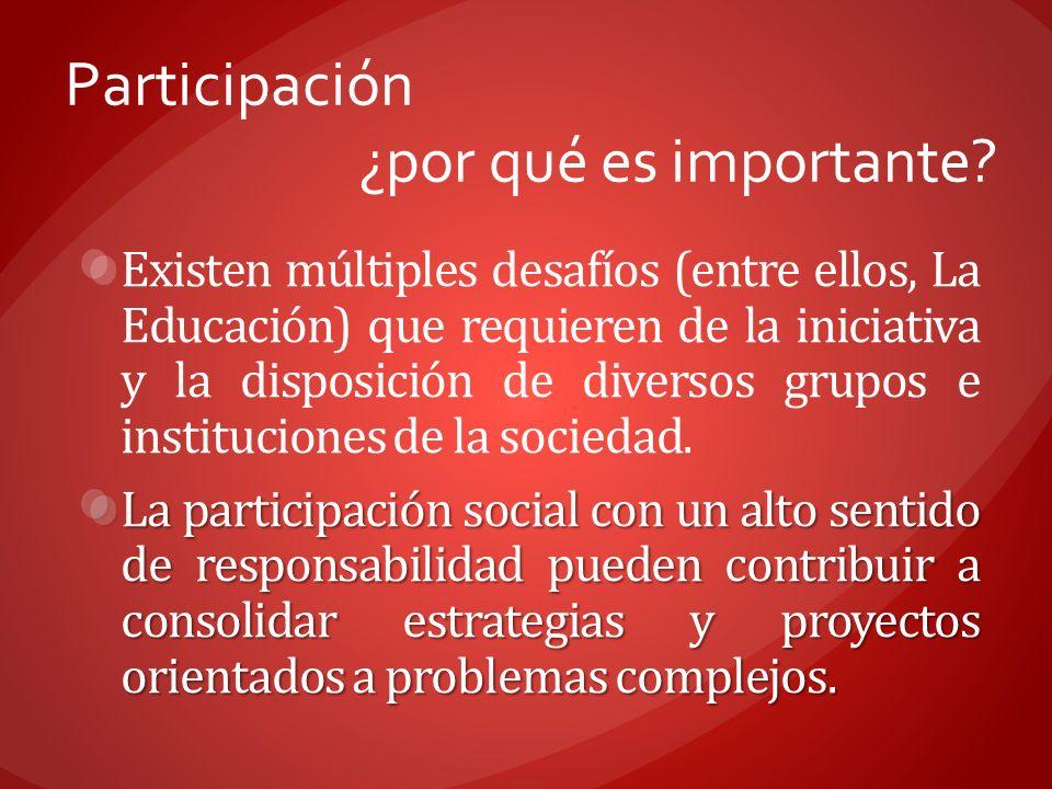 Participación ¿por qué es importante