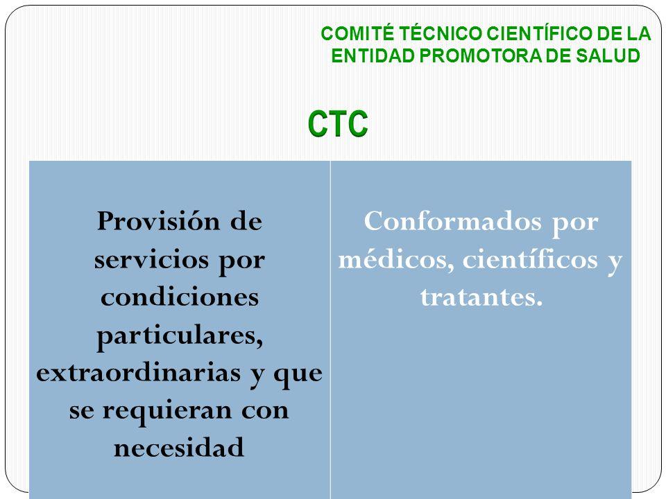 COMITÉ TÉCNICO CIENTÍFICO DE LA ENTIDAD PROMOTORA DE SALUD