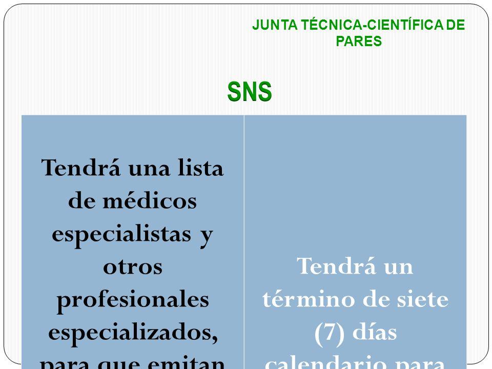 JUNTA TÉCNICA-CIENTÍFICA DE PARES