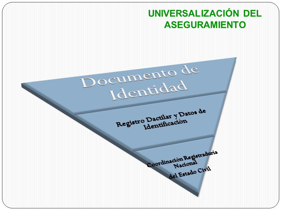 UNIVERSALIZACIÓN DEL ASEGURAMIENTO