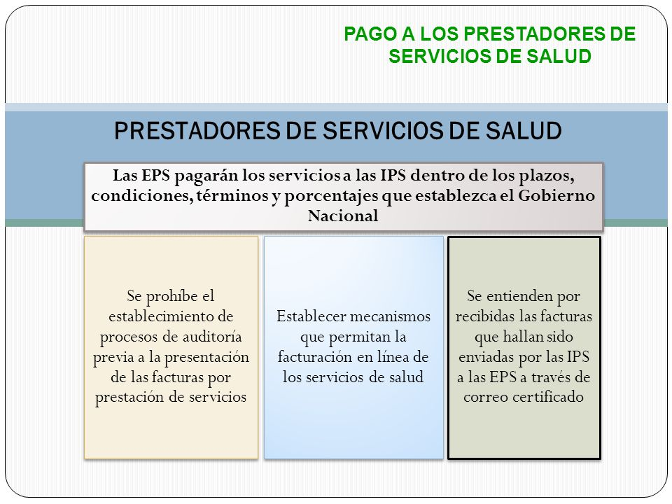PRESTADORES DE SERVICIOS DE SALUD