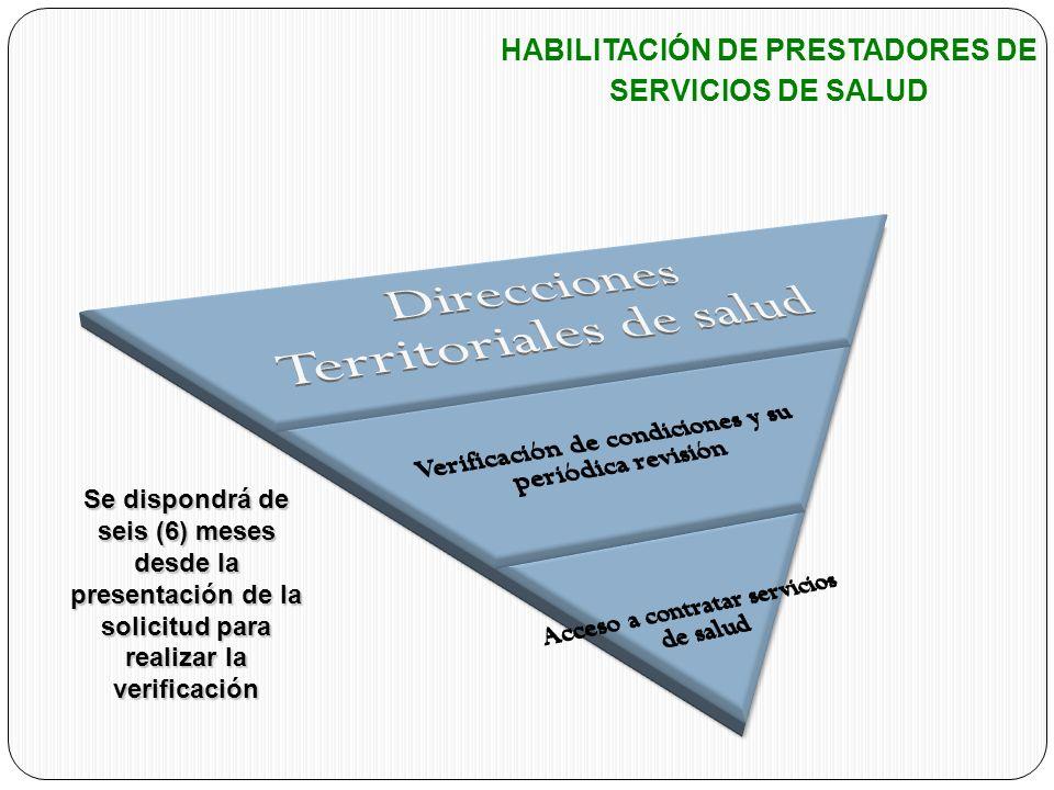 HABILITACIÓN DE PRESTADORES DE SERVICIOS DE SALUD