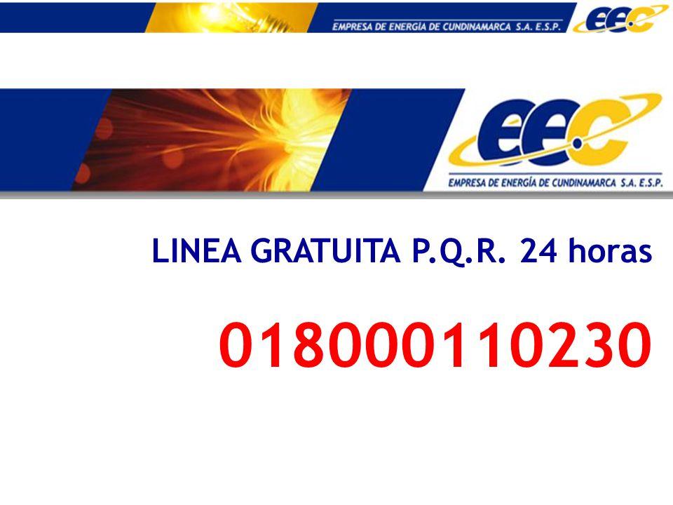 LINEA GRATUITA P.Q.R. 24 horas