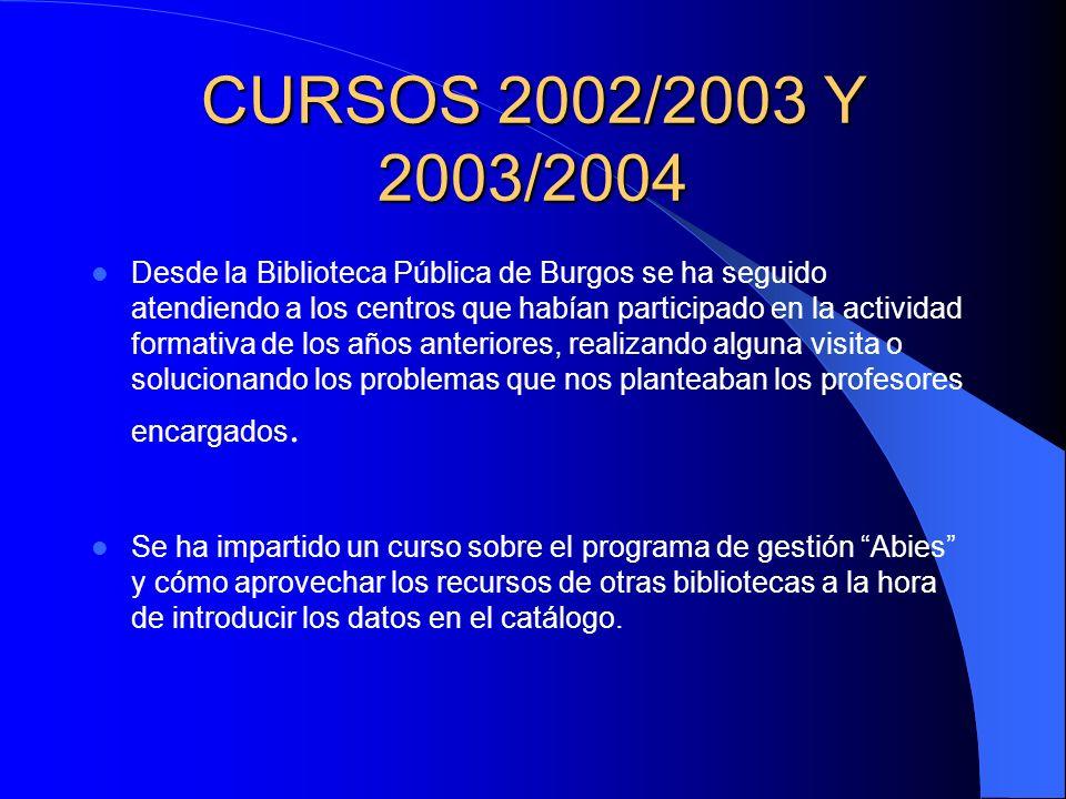 CURSOS 2002/2003 Y 2003/2004