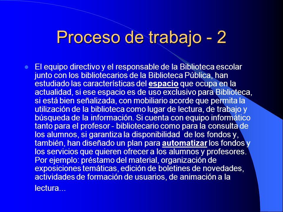 Proceso de trabajo - 2