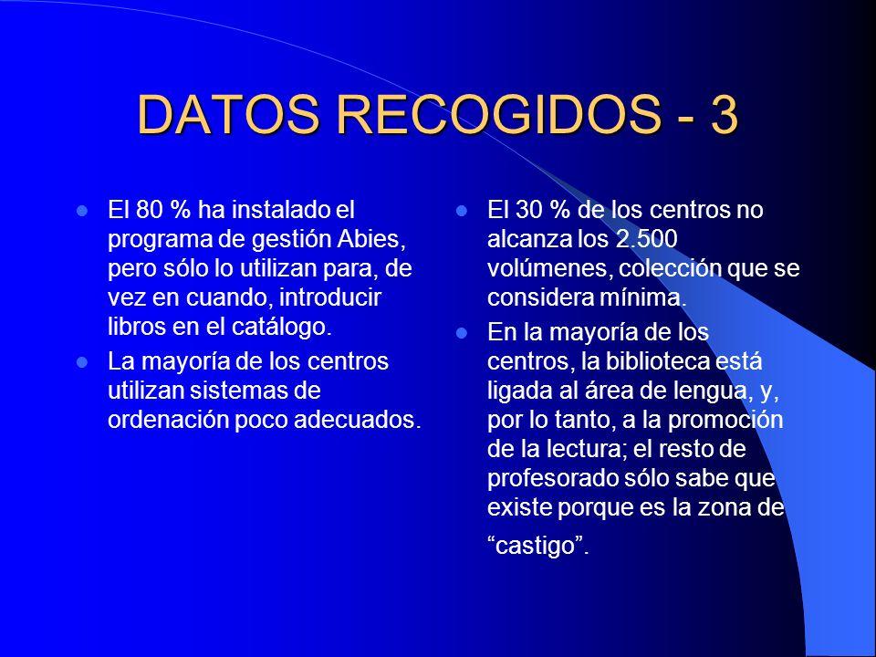 DATOS RECOGIDOS - 3
