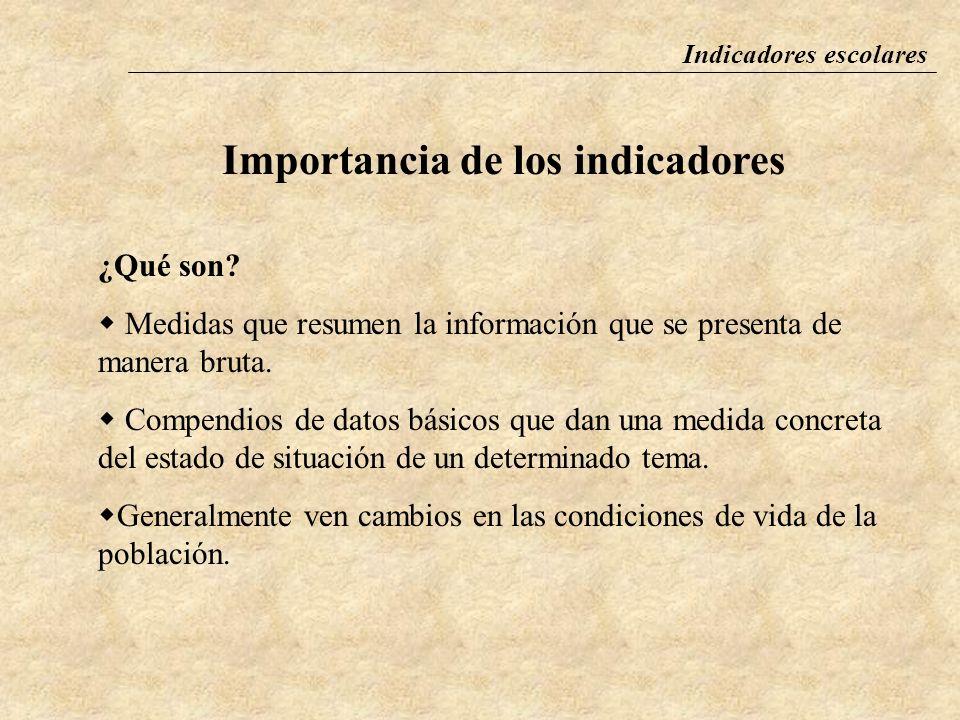 Importancia de los indicadores