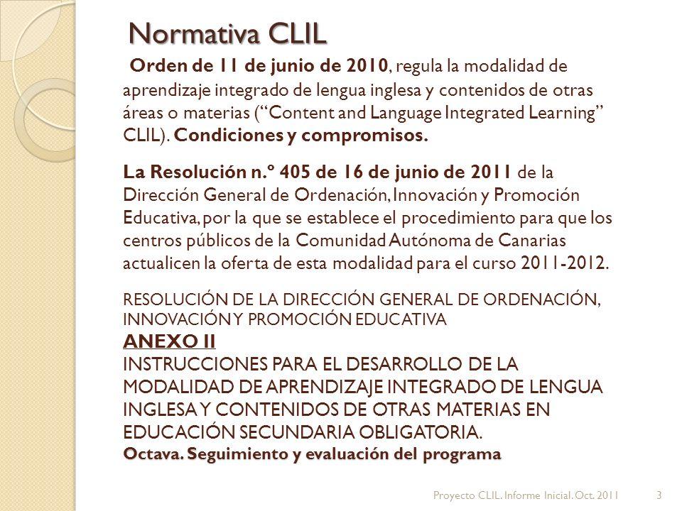 Normativa CLIL