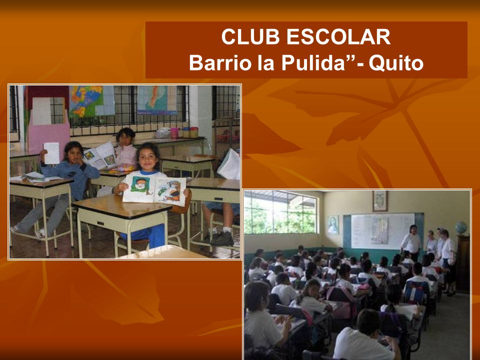 CLUB ESCOLAR Barrio la Pulida - Quito