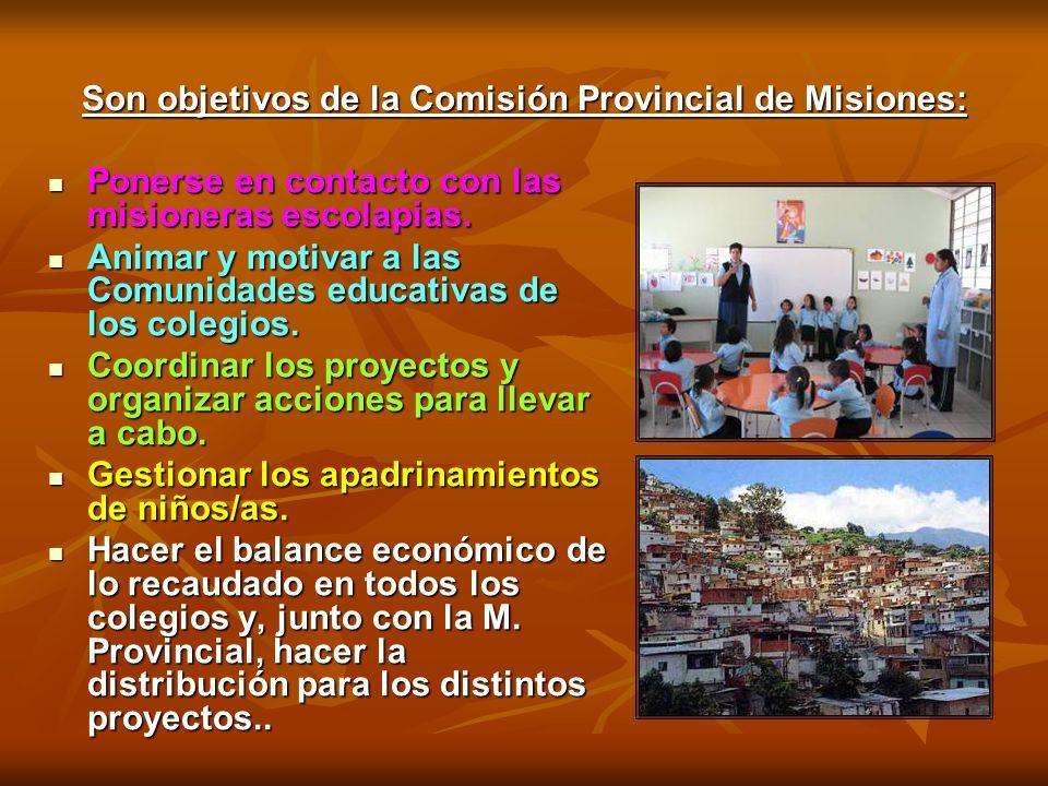 Son objetivos de la Comisión Provincial de Misiones: