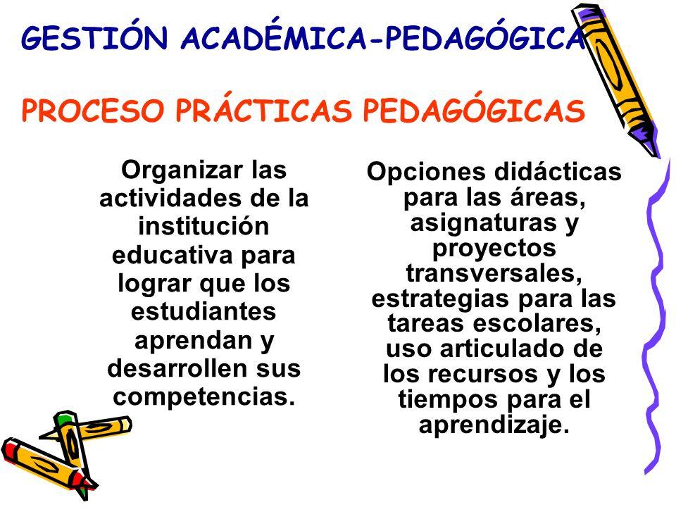 GESTIÓN ACADÉMICA-PEDAGÓGICA PROCESO PRÁCTICAS PEDAGÓGICAS