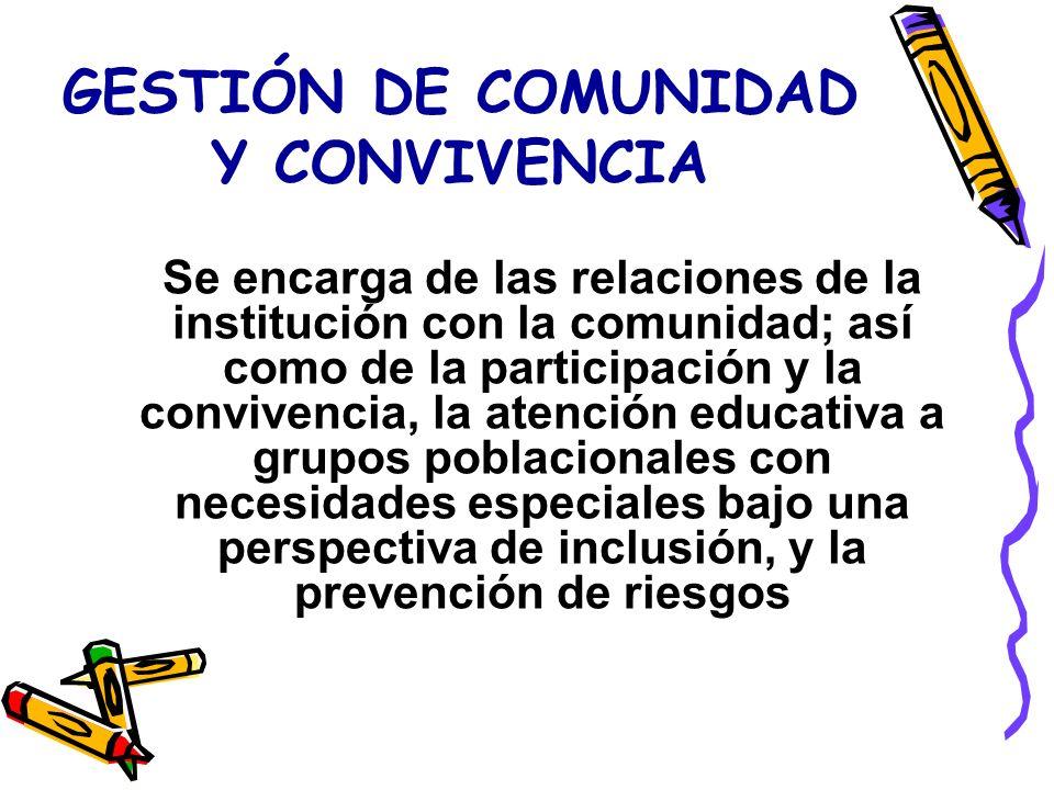 GESTIÓN DE COMUNIDAD Y CONVIVENCIA