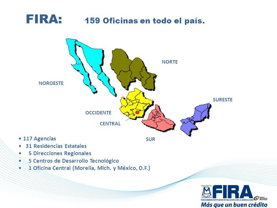 FIRA: 159 Oficinas en todo el país.