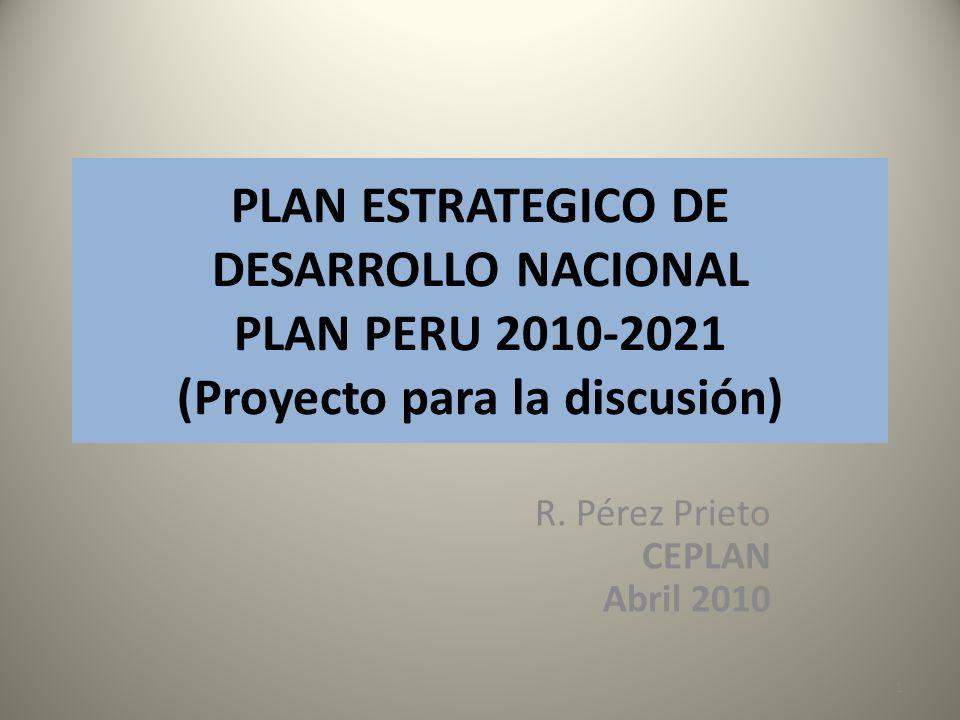 R. Pérez Prieto CEPLAN Abril 2010