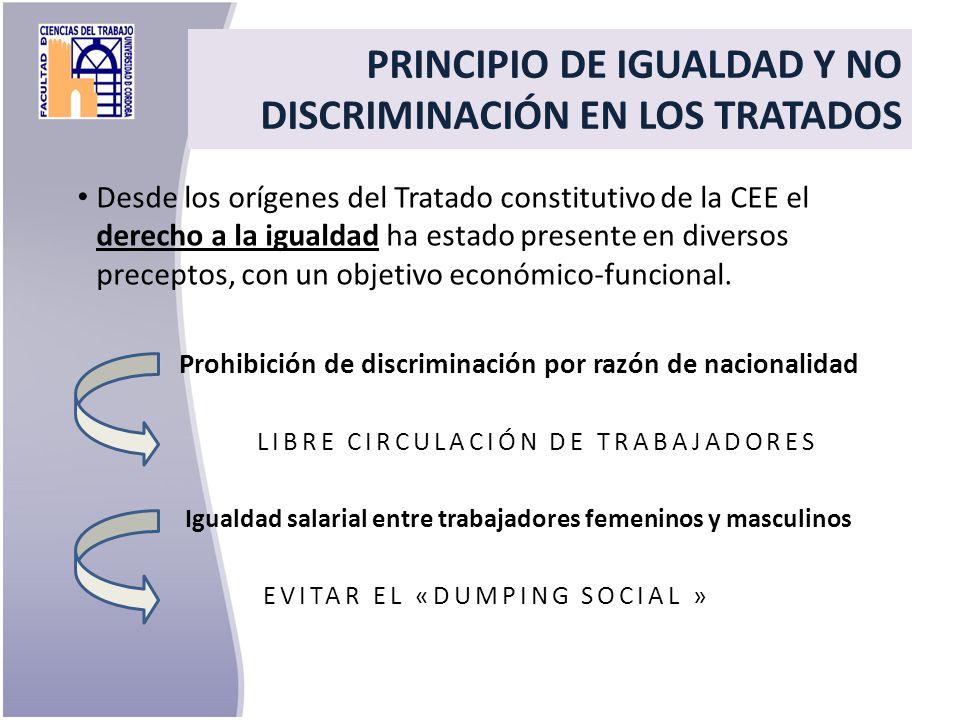 PRINCIPIO DE IGUALDAD Y NO DISCRIMINACIÓN EN LOS TRATADOS
