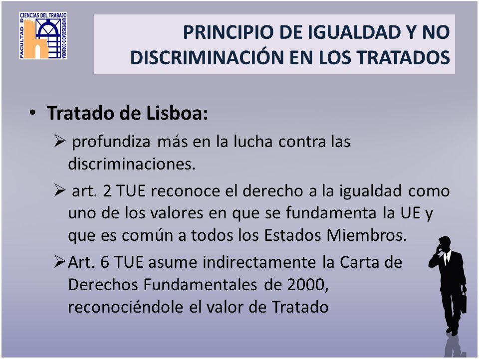 Title PRINCIPIO DE IGUALDAD Y NO DISCRIMINACIÓN EN LOS TRATADOS