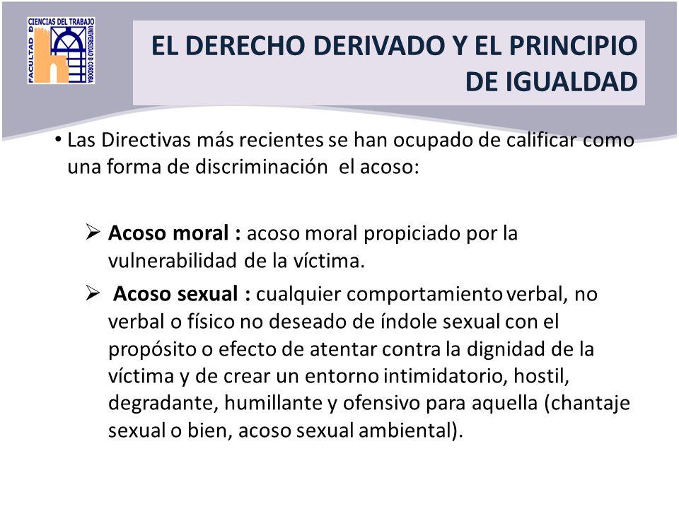 Title EL DERECHO DERIVADO Y EL PRINCIPIO DE IGUALDAD