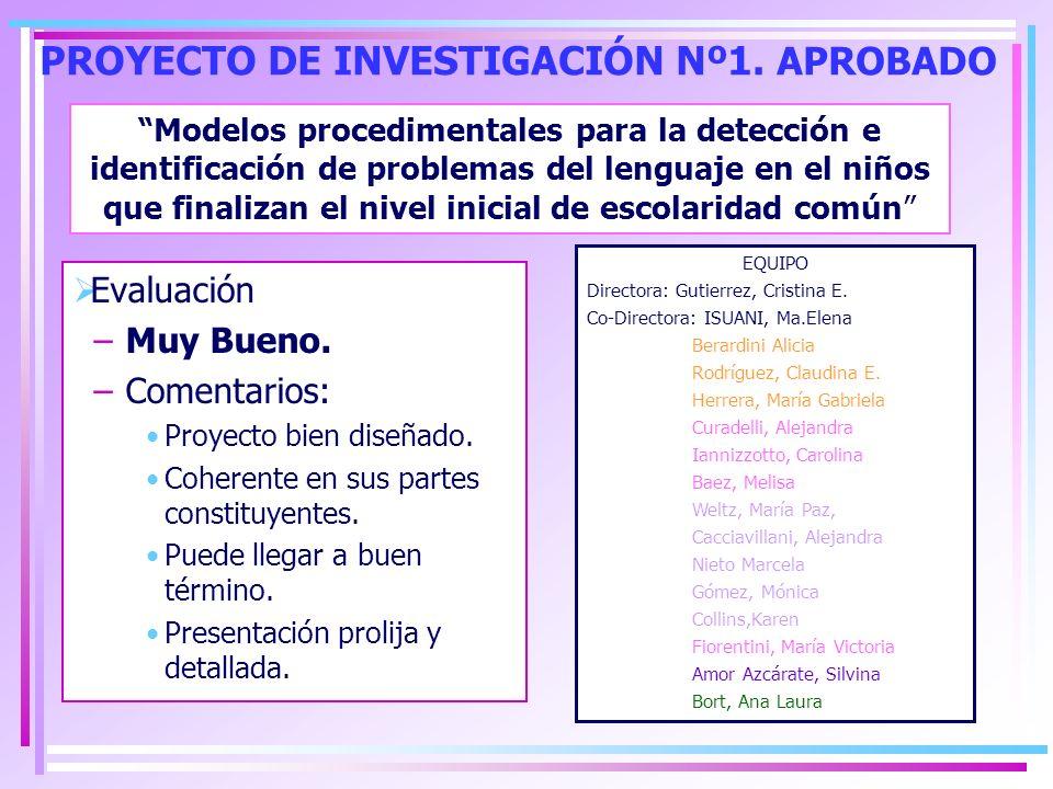 PROYECTO DE INVESTIGACIÓN Nº1. APROBADO