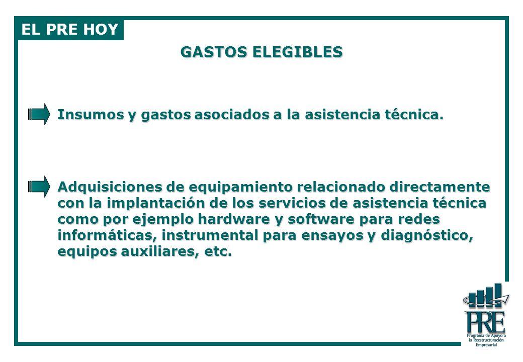 EL PRE HOY GASTOS ELEGIBLES
