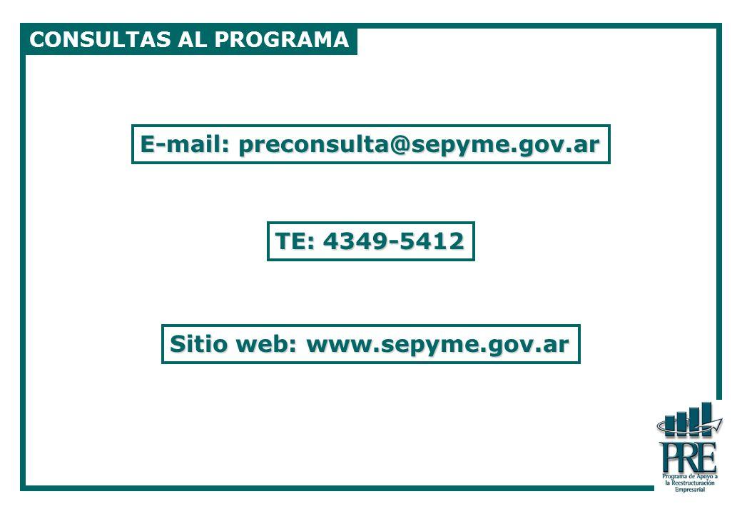 E-mail: preconsulta@sepyme.gov.ar